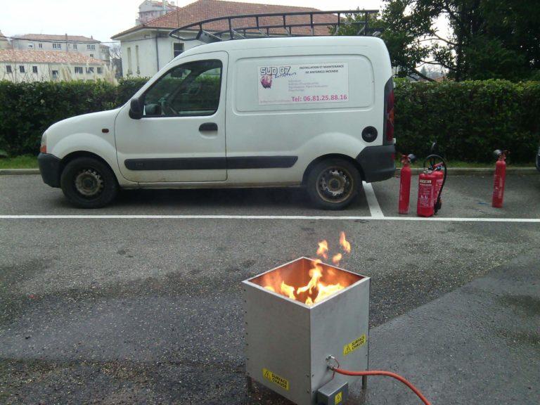 Bac à feu